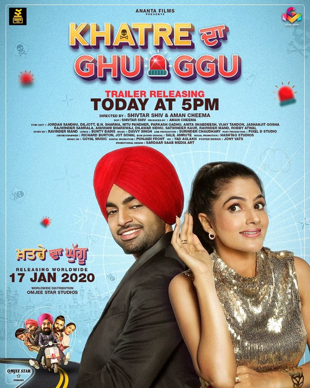 Khatre Da Ghuggu (2020) Punjabi Movie 1080p HDRip x264 ESubs 1.9GB