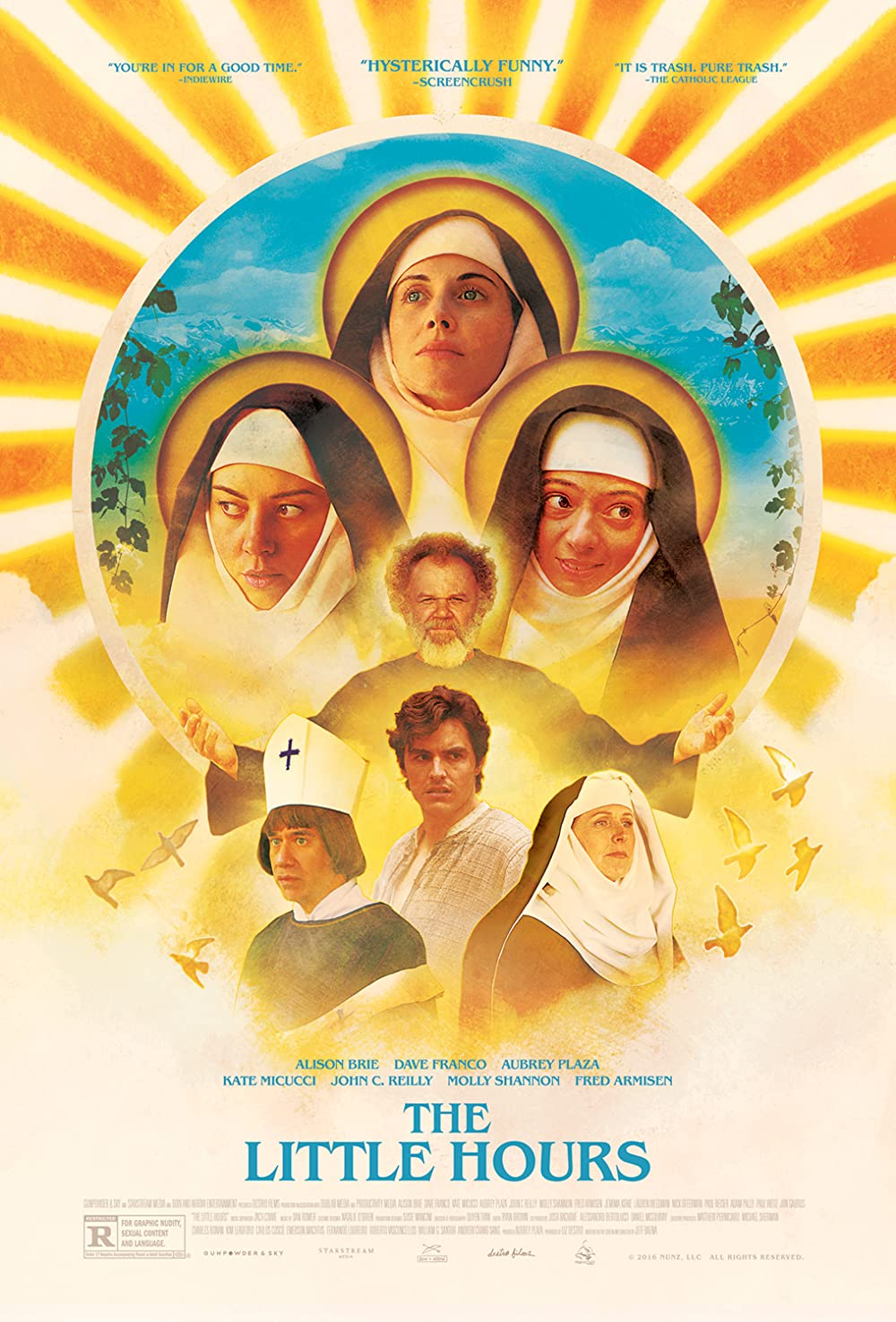 18+ The Little Hours 2017 Hindi ORG Dual Audio 310MB BluRay Download