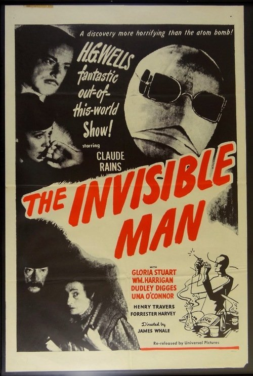Claude Rains, Gloria Stuart, E.E. Clive, William Harrigan, and Una O'Connor in The Invisible Man (1933)