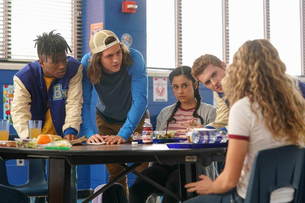 Jake Austin Walker, Jasun Jabbar Wardlaw Jr., Yvette Monreal, and Sam Brooks in Stargirl (2020)