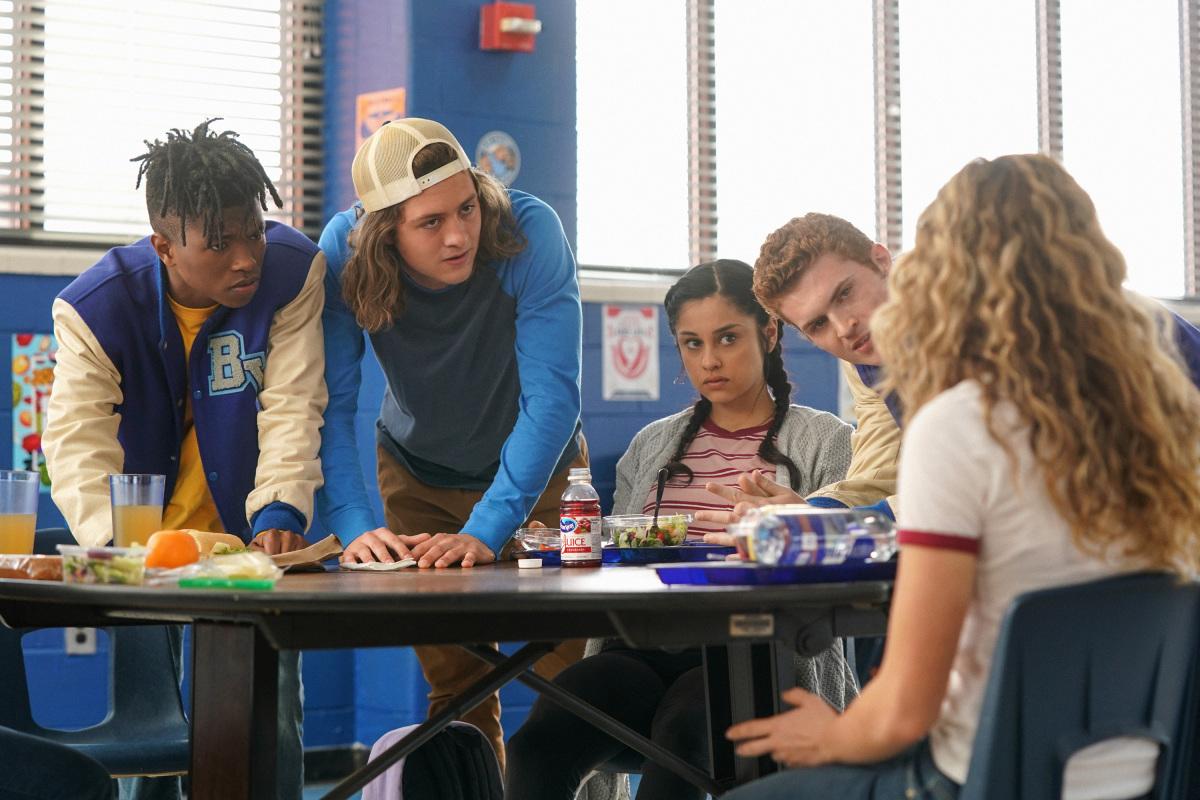 Jake Austin Walker, Jasun Jabbar Wardlaw Jr., Yvette Monreal, and Sam Brooks in Stargirl (2020)