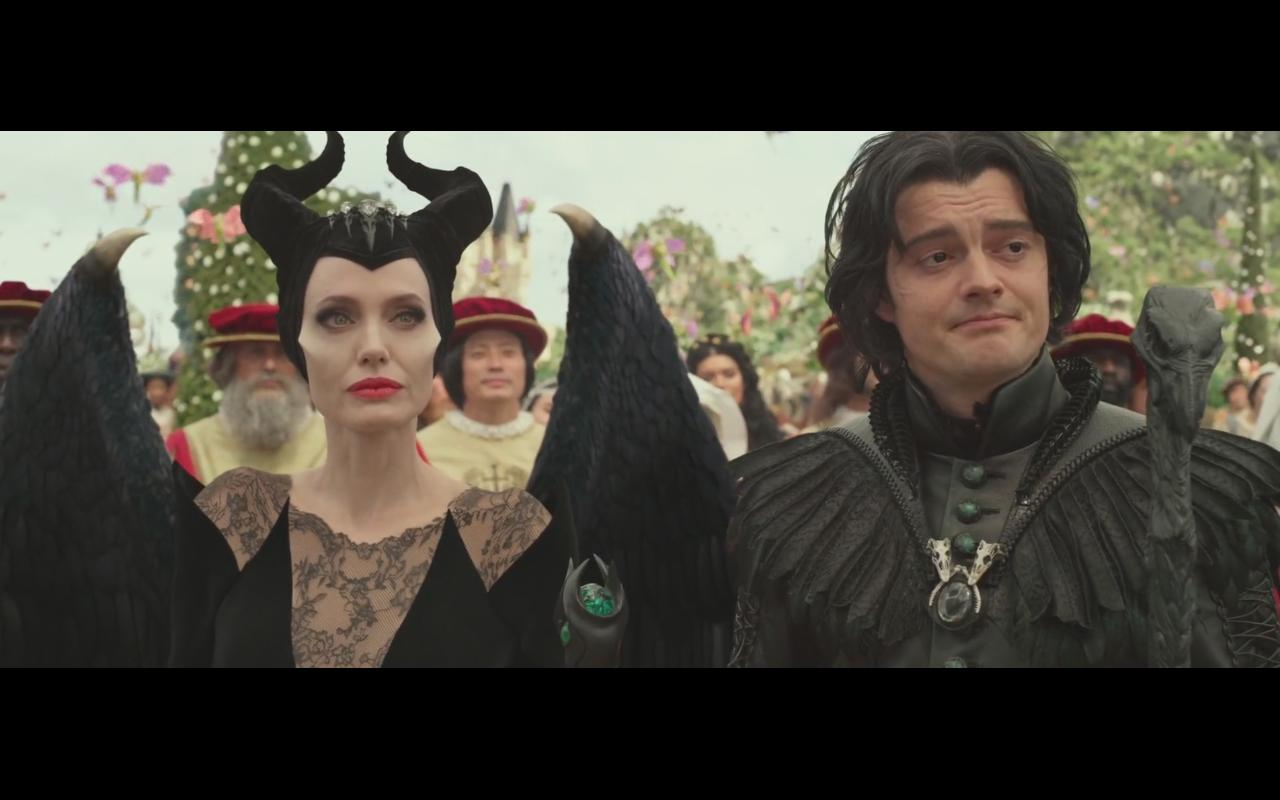 Angelina Jolie and Sam Riley in Maleficent: Mistress of Evil (2019)