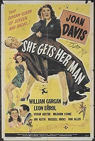 Vivian Austin, Joan Davis, Leon Errol, and William Gargan in She Gets Her Man (1945)