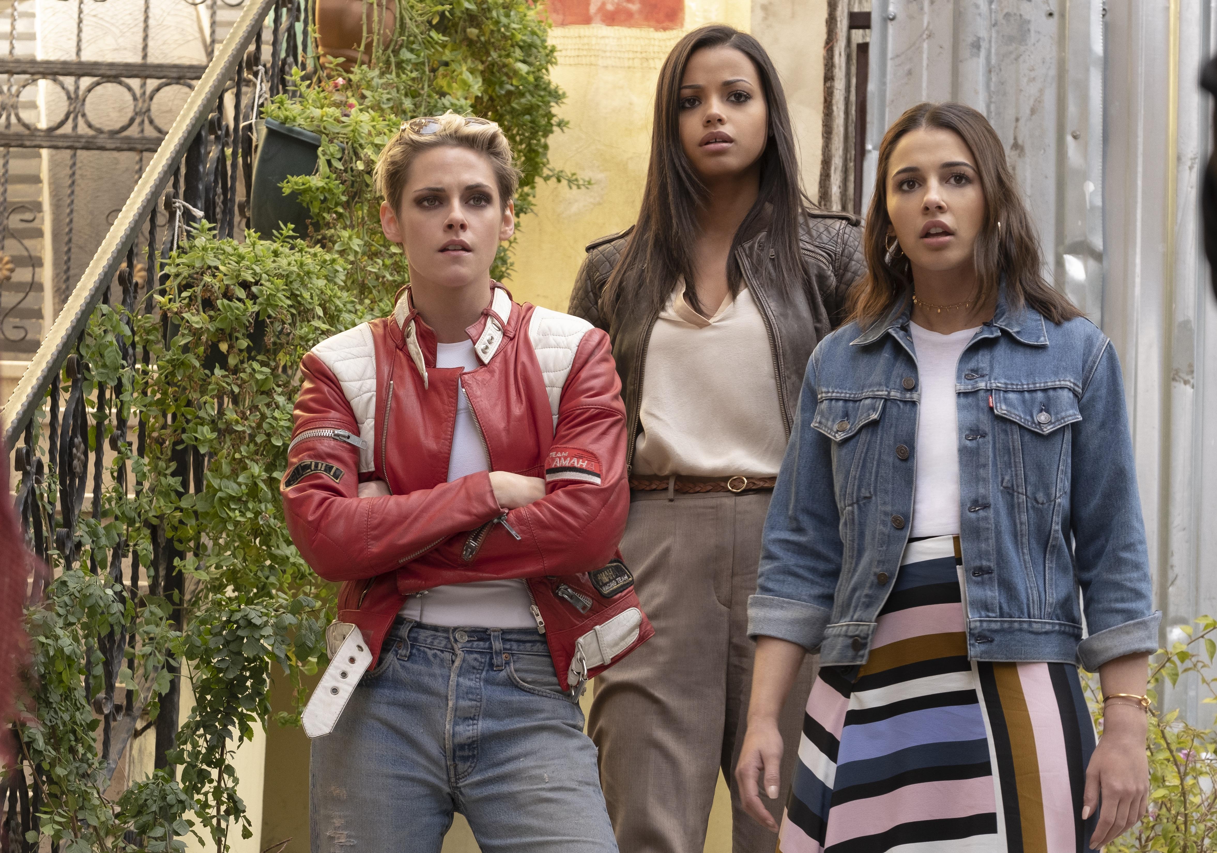 Kristen Stewart, Naomi Scott, and Ella Balinska in Charlie's Angels (2019)