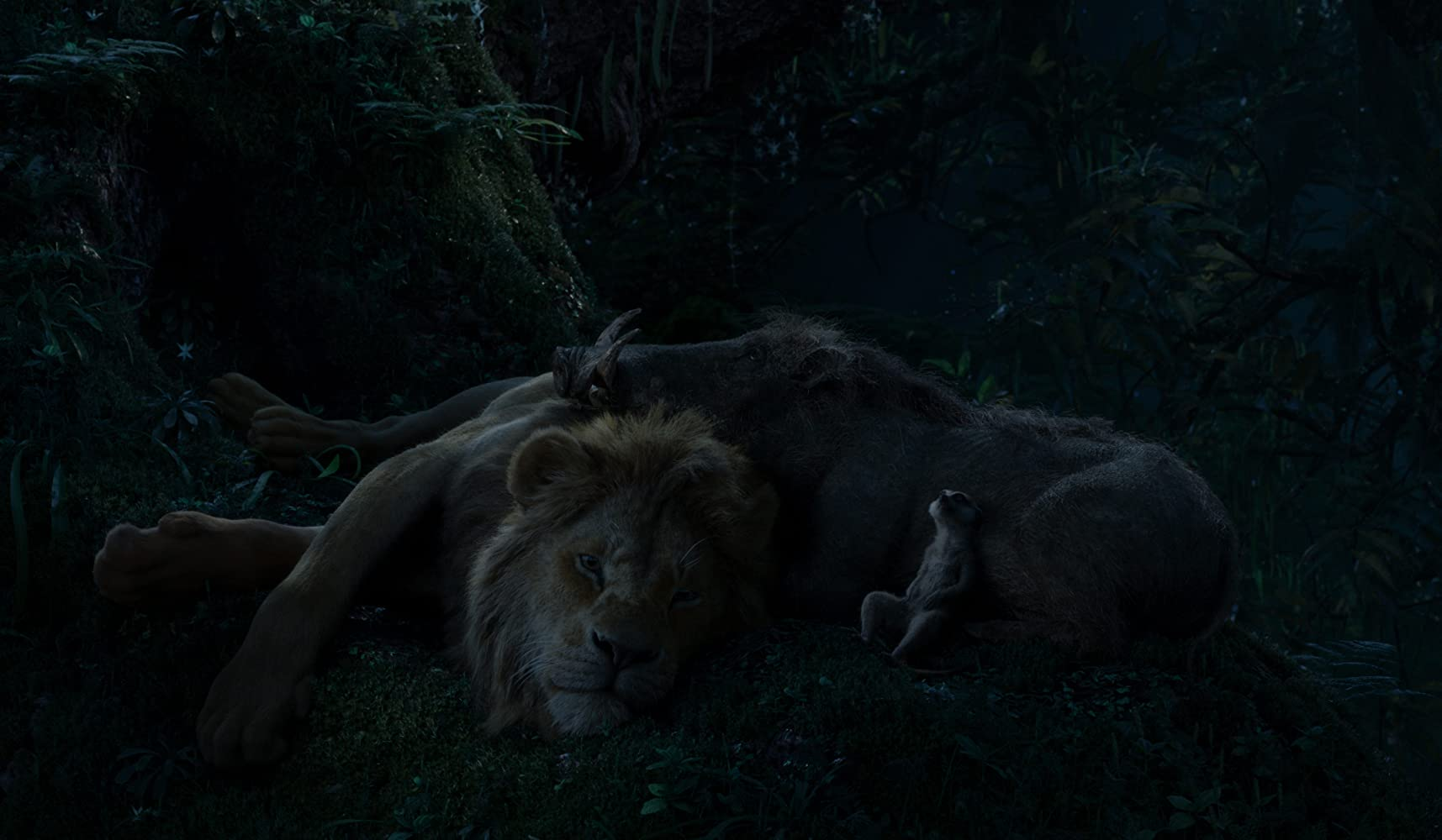 Seth Rogen, Donald Glover, and Billy Eichner in The Lion King (2019)