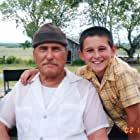 """Robert Duvall and Mitchel Musso on the set of """"Secondhand Lions"""""""
