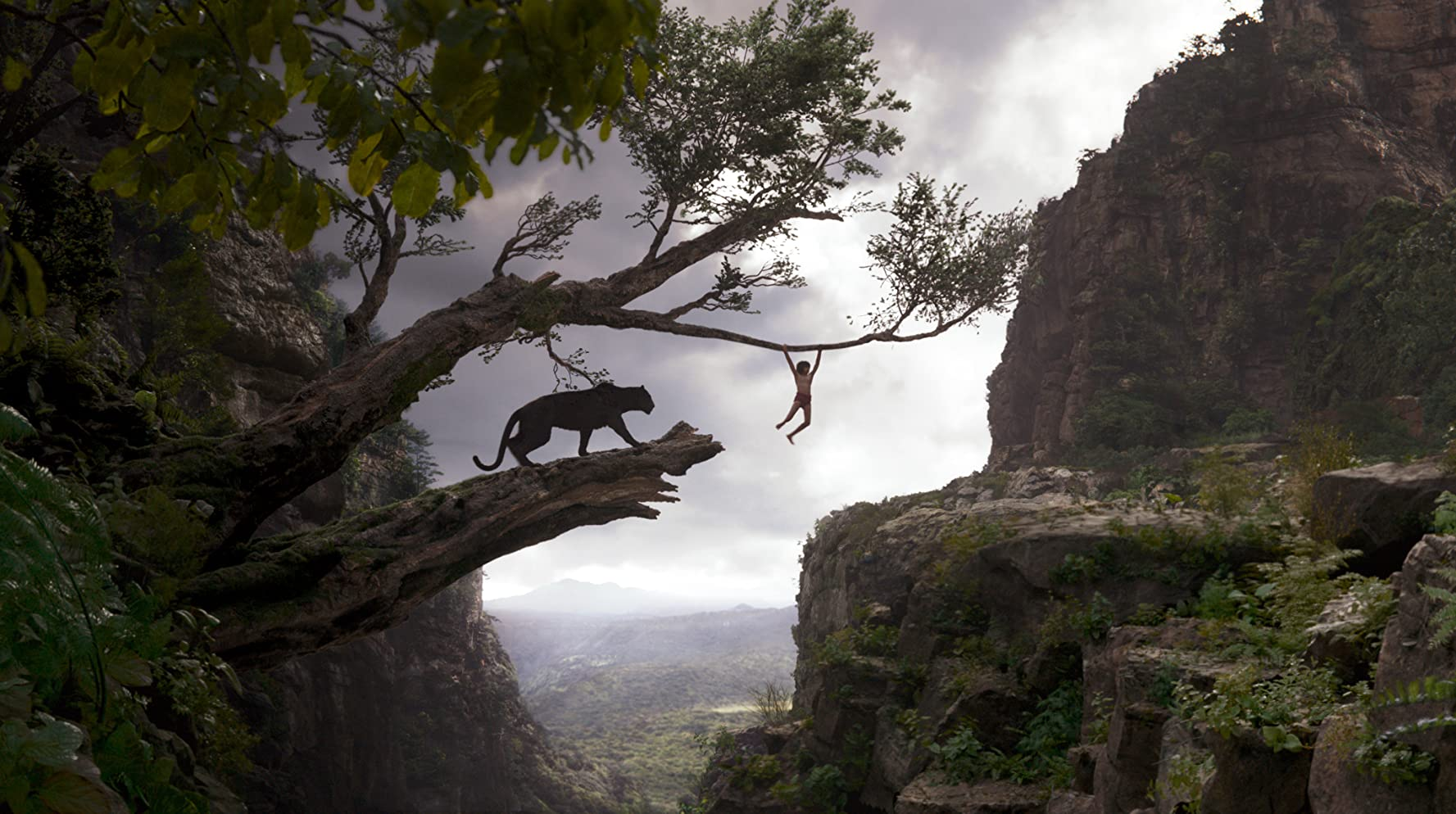 Ben Kingsley and Neel Sethi in The Jungle Book (2016)