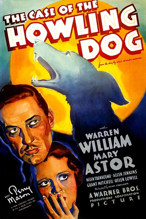 Mary Astor, Warren William, and Lightning in The Case of the Howling Dog (1934)