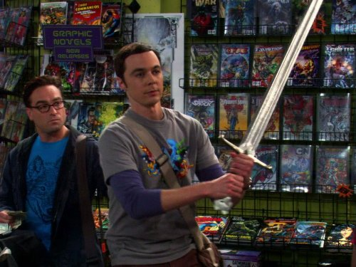 Johnny Galecki and Jim Parsons in The Big Bang Theory (2007)