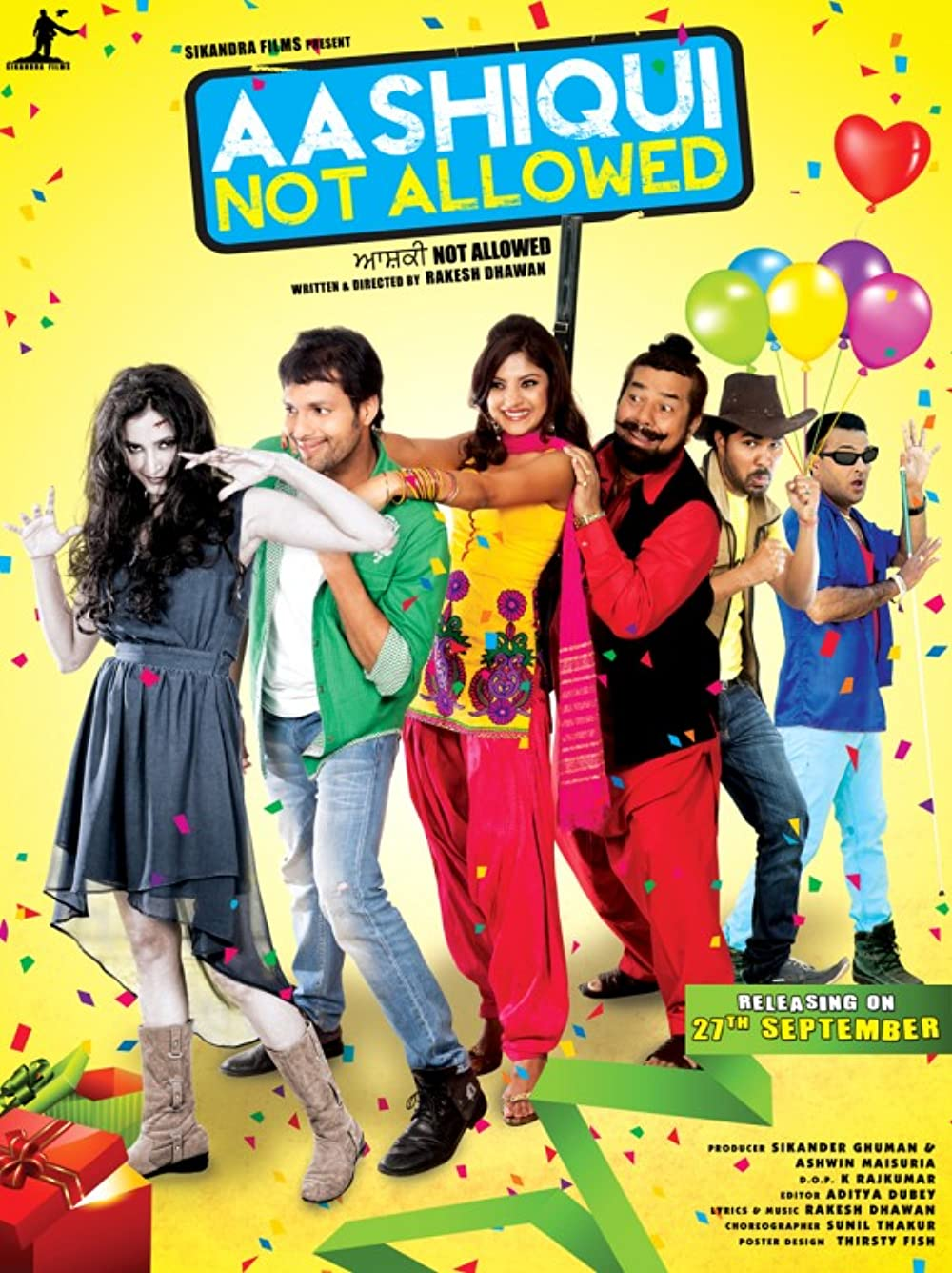 Aashiqui Not Allowed 2013 Punjabi 720p HDRip ESubs 870MB Download
