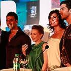 Kylie Minogue, Sanjay Dutt, Akshay Kumar, Lara Dutta, and Zayed Khan at an event for Blue (2009)