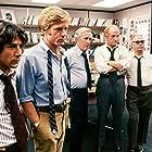 Dustin Hoffman, Robert Redford, Martin Balsam, Jason Robards, and Jack Warden in All the President's Men (1976)
