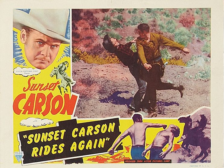 Sunset Carson, John Cason, and Stephen Keyes in Sunset Carson Rides Again (1948)