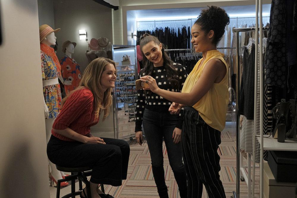 Aisha Dee, Meghann Fahy, and Katie Stevens in The Bold Type (2017)