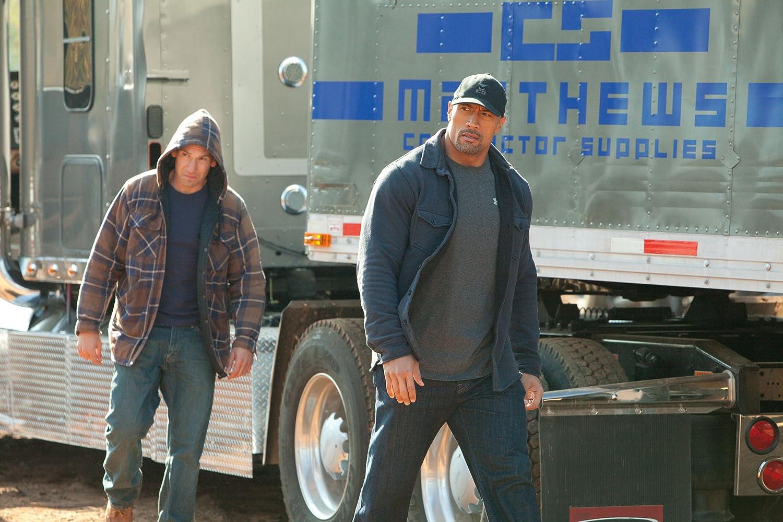 Dwayne Johnson and Jon Bernthal in Snitch (2013)