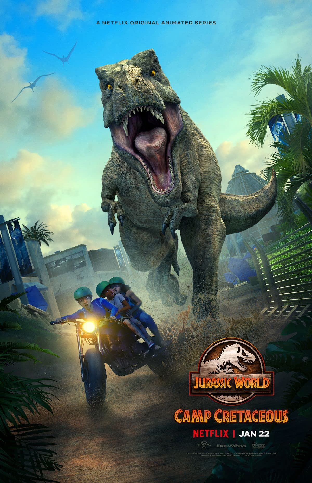 Jurassic World Camp Cretaceous S02 (2021) ORG Hindi Netflix Complete Web Series 480p HDRip 600MB