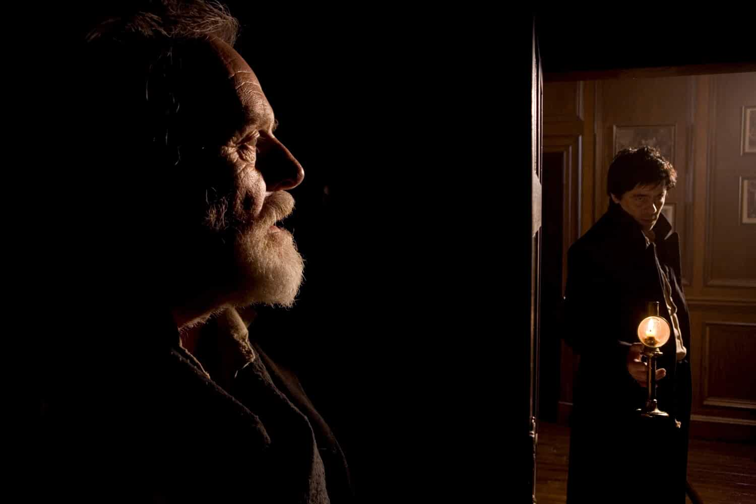 Anthony Hopkins and Benicio Del Toro in The Wolfman (2010)
