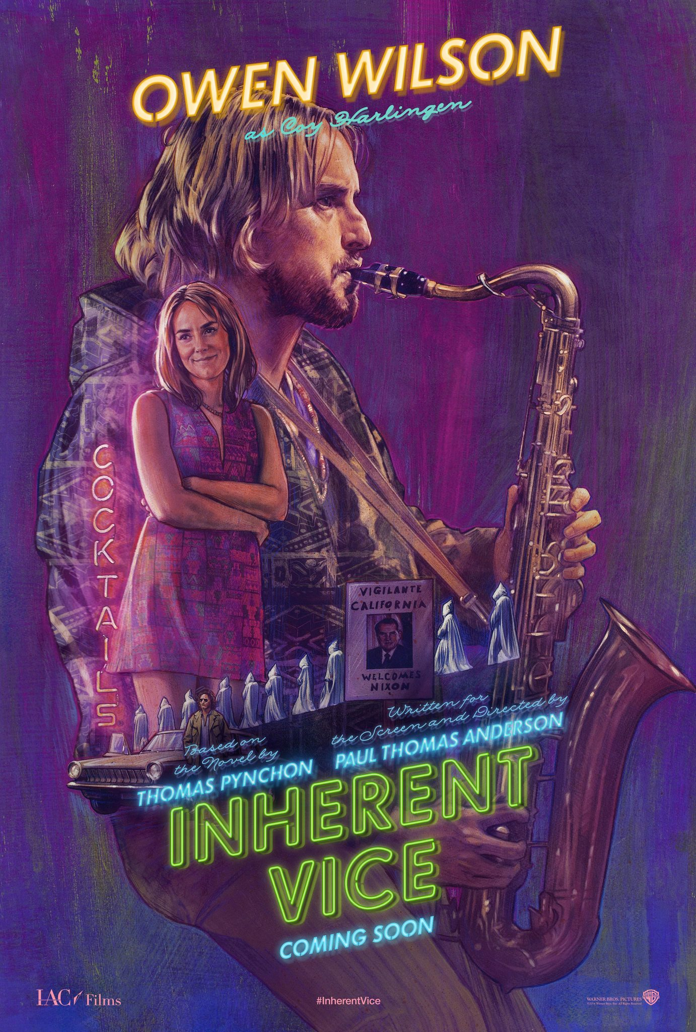 Owen Wilson and Jena Malone in Inherent Vice (2014)