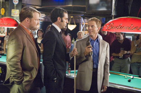 Sacha Baron Cohen, Greg Germann, and Andy Richter in Talladega Nights: The Ballad of Ricky Bobby (2006)
