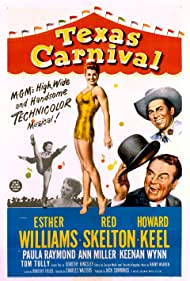 Howard Keel, Ann Miller, Red Skelton, and Esther Williams in Texas Carnival (1951)
