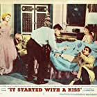 Glenn Ford, Eva Gabor, Debbie Reynolds, Fred Clark, and Gustavo Rojo in It Started with a Kiss (1959)