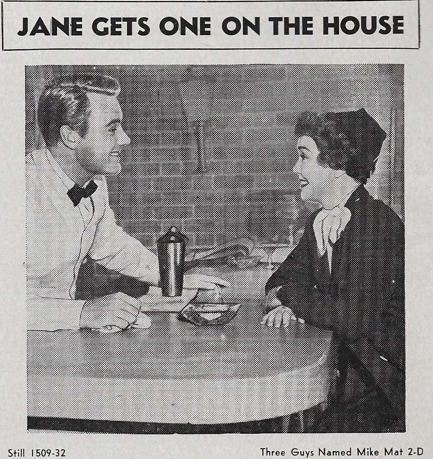 Van Johnson and Jane Wyman in Three Guys Named Mike (1951)