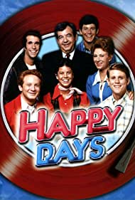 Henry Winkler, Marion Ross, Tom Bosley, Erin Moran, Don Most, and Anson Williams in Happy Days (1974)
