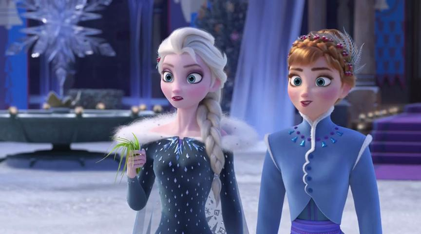 Kristen Bell and Idina Menzel in Olaf's Frozen Adventure (2017)