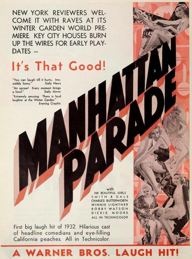 Lilian Bond, Greta Granstedt, Ruth Hall, and Winnie Lightner in Manhattan Parade (1931)