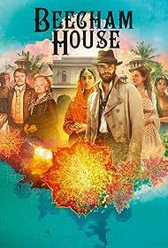 Lesley Nicol, Roshan Seth, Marc Warren, and Tom Bateman in Beecham House (2019)