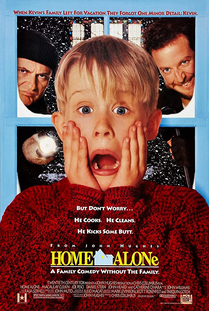 Macaulay Culkin, Joe Pesci, and Daniel Stern in Home Alone (1990)