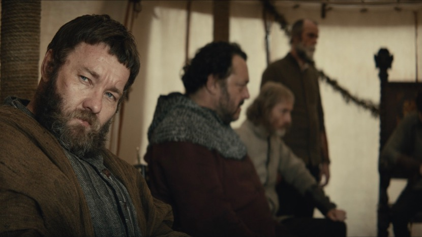 Joel Edgerton, Sean Harris, and Ivan Kaye in The King (2019)