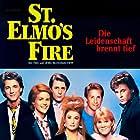 Demi Moore, Emilio Estevez, Rob Lowe, Andrew McCarthy, Judd Nelson, Ally Sheedy, and Mare Winningham in St. Elmo's Fire (1985)
