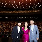 """Philip Barantini, Lourdes Faberes and Bart Ruspoli at the World Premiere of """"Boiling Point"""" (2021) at the 55th Karlovy Vary International Film Festival"""