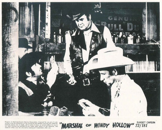 Sunset Carson, Leonard Mann, and Glenn Huffman in The Marshal of Windy Hollow (1972)