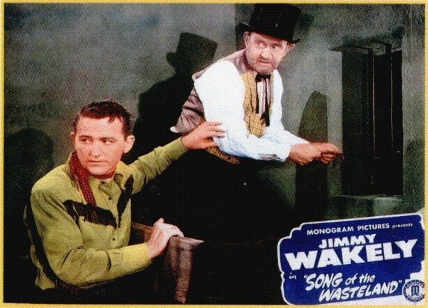 Jimmy Wakely and Lee 'Lasses' White in Song of the Wasteland (1947)