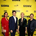 Cameron Welsh, Cameron Cuffe, Georgina Campbell, and Wallis Day at an event for Krypton (2018)