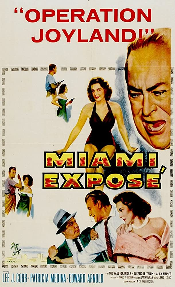 Lee J. Cobb, Edward Arnold, and Patricia Medina in Miami Exposé (1956)