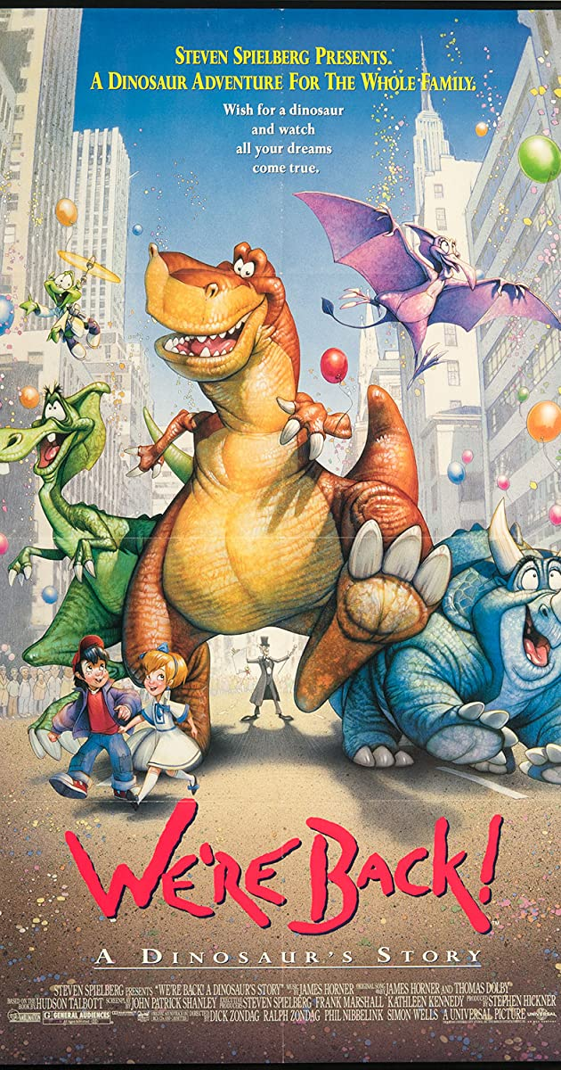 Were Back A Dinosaurs Story 1993