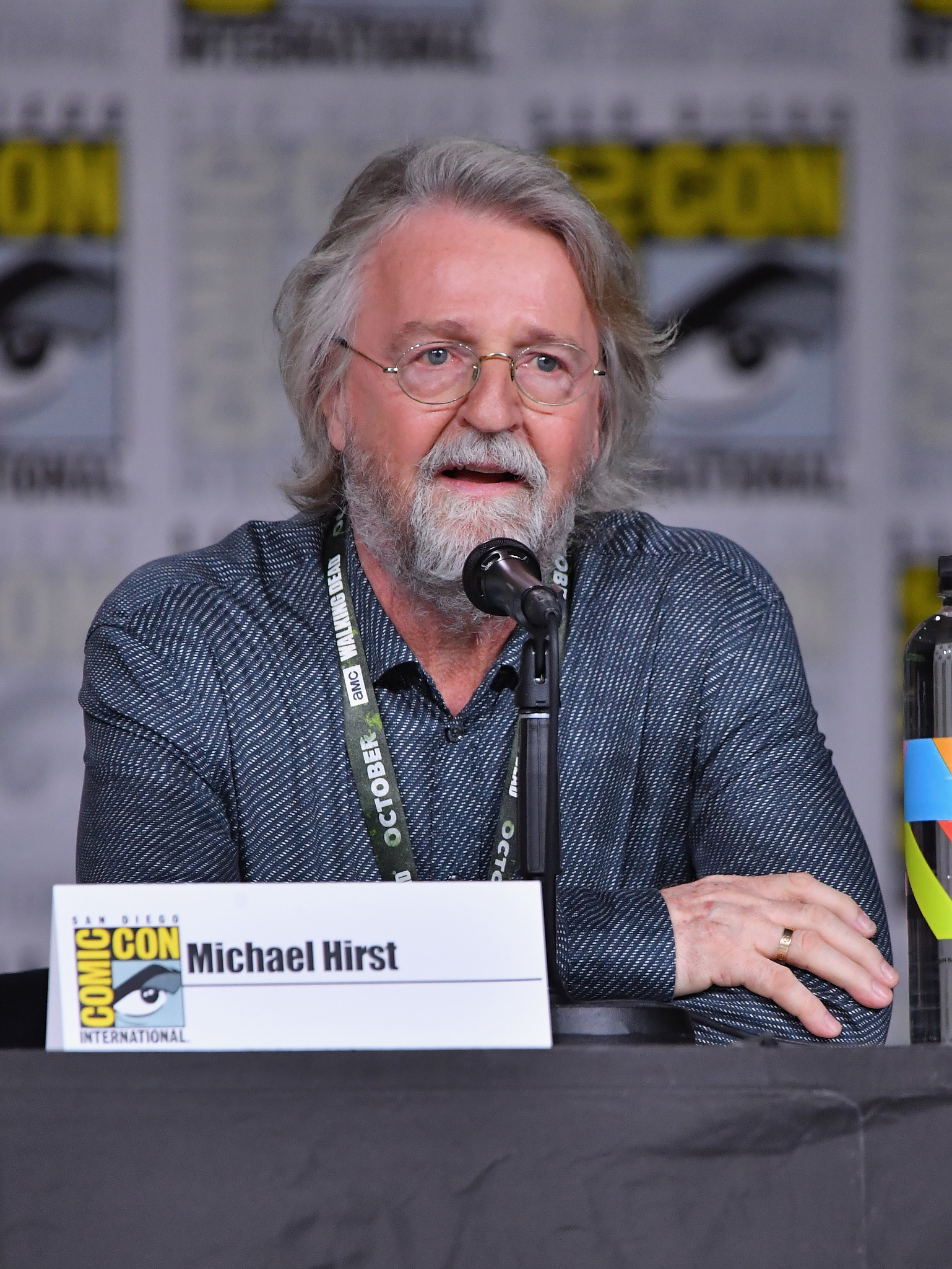 Michael Hirst at an event for Vikings (2013)