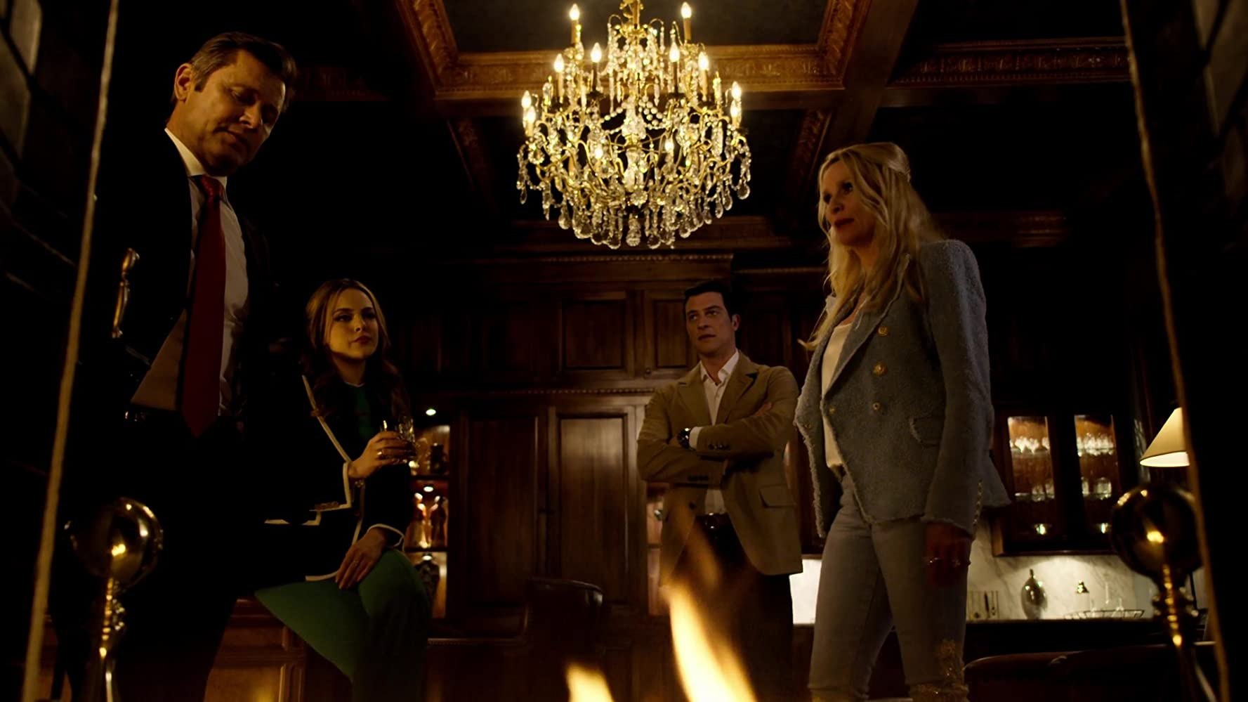 Nicollette Sheridan, Grant Show, Elizabeth Gillies, and James Mackay in Dynasty (2017)