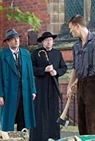 Hugo Speer, Mark Williams, and Paddy Wallace in Father Brown (2013)