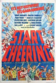 Jimmy Durante, Walter Connolly, Gertrude Niesen, Joan Perry, Charles Starrett, and The Three Stooges in Start Cheering (1938)