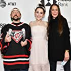 Kevin Smith, Jennifer Schwalbach Smith, and Harley Quinn Smith at an event for All These Small Moments (2018)