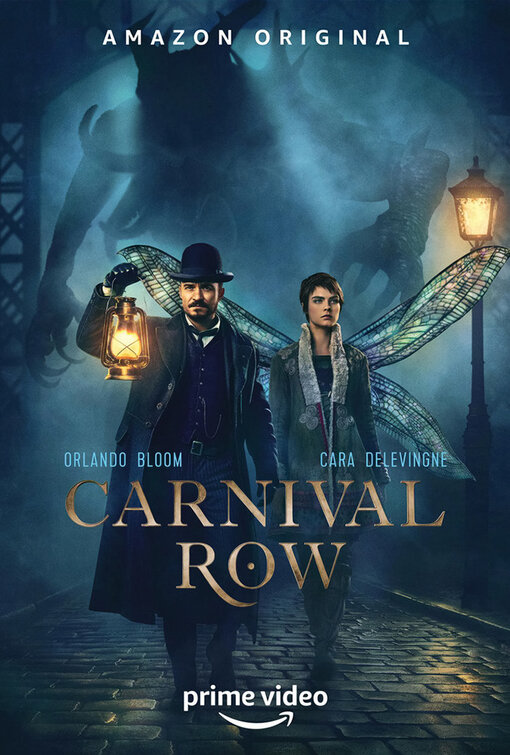 Orlando Bloom and Cara Delevingne in Carnival Row (2019)
