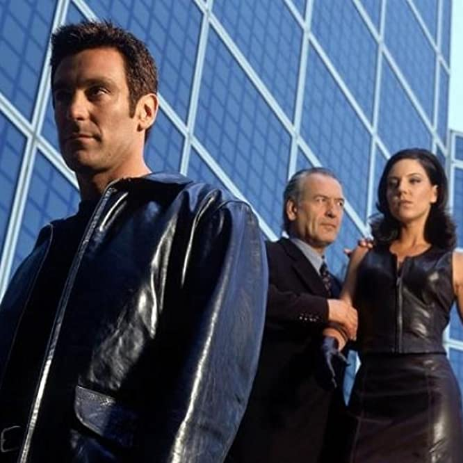 Patrick Bauchau, Andrea Parker, and Michael T. Weiss in The Pretender (1996)