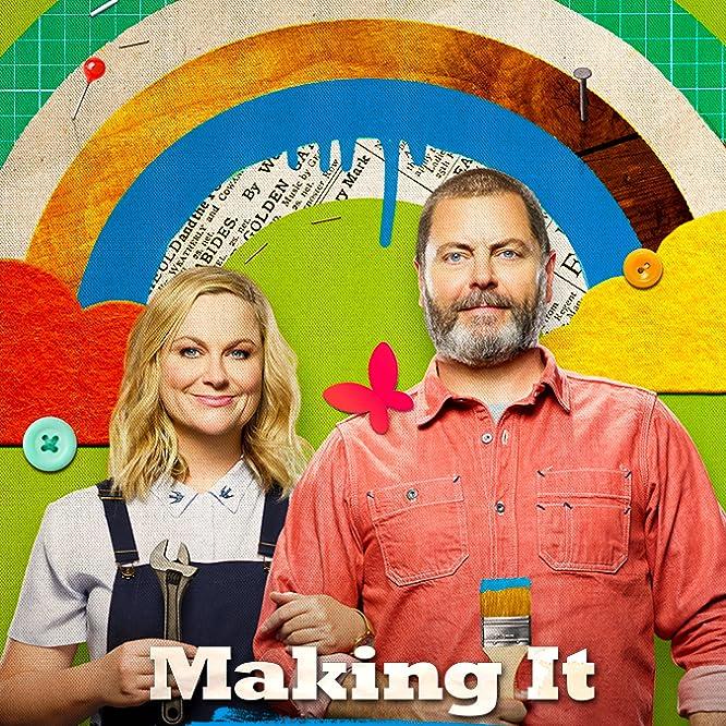 Simon Doonan, Nick Offerman, Amy Poehler, and Dayna Isom Johnson in Making It (2018)