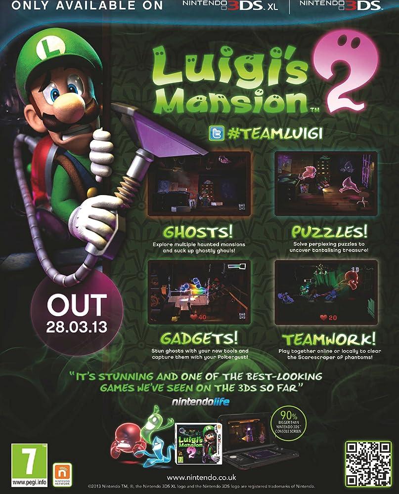 Luigi S Mansion Dark Moon 2013