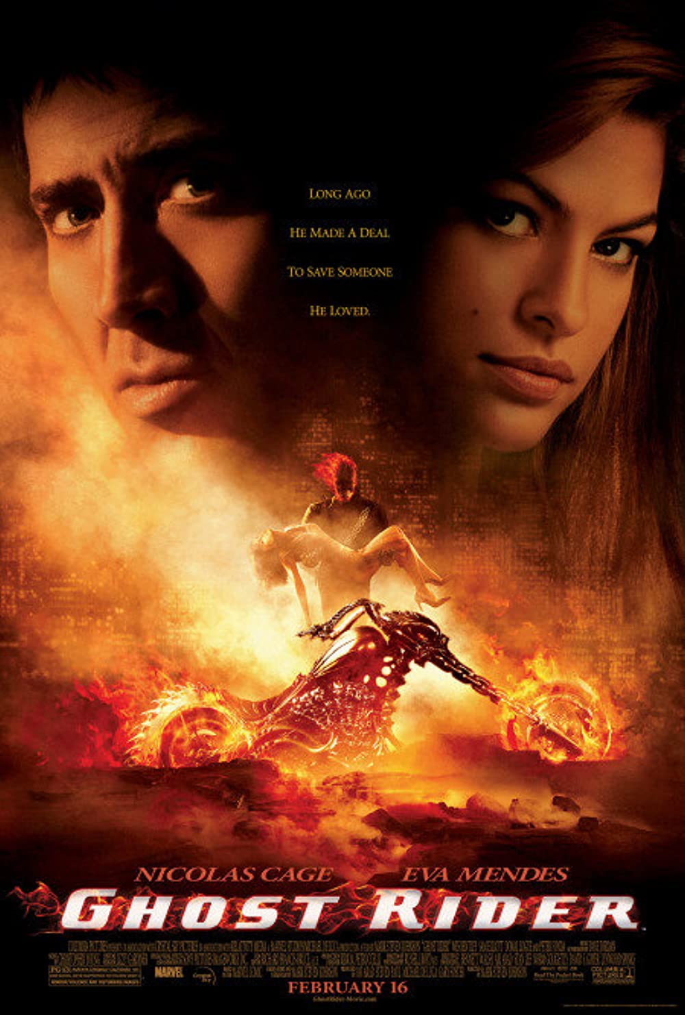 Ghost Rider 2007 Extended Hindi English 720p BluRay 980MB x264 Esub