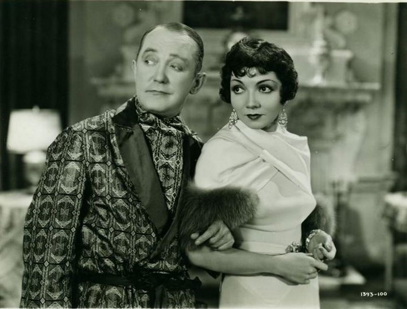Claudette Colbert and George M. Cohan in The Phantom President (1932)